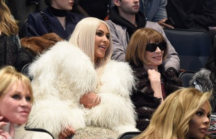 NEW YORK, NY - FEBRUARY 11: Kim Kardashian West and Anna Wintour attend Kanye West Yeezy Season 3 at Madison Square Garden on February 11, 2016 in New York City. (Photo by Kevin Mazur/Getty Images for Yeezy Season 3)